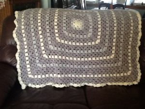 crocheted afghan for a wedding